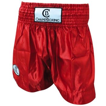 Short de Boxe Thaï Champboxing Rouge