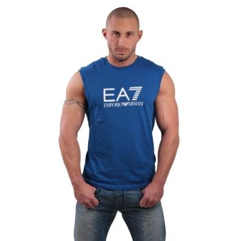Tshirt manches courtes ARMANI EA7 Train Big logo - Bleu