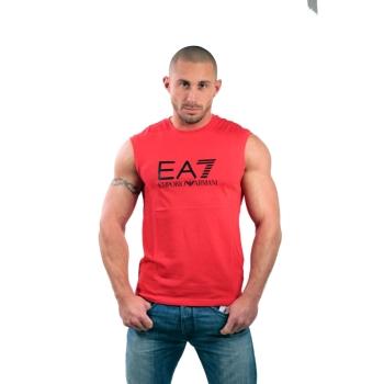 Tshirt manches courtes ARMANI EA7 Train Big logo - Rouge