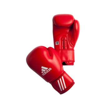 Gants de boxe amateur ADIDAS AIBA cuir Rouge