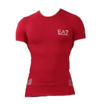 Tshirt ARMANI EA7 Tech - Rouge