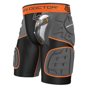 Pack Short de compression 5 Pads avec Coquille Carbon Shock Doctor