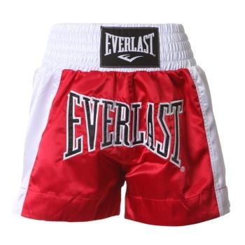 Short de Boxe Thaï EVERLAST Rouge/Blanc