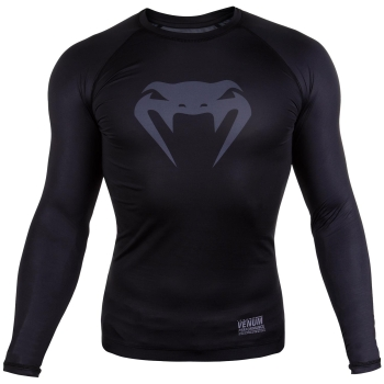 T-shirt de compression Venum Contender 3.0 - Manches Longues - Noir/Gris