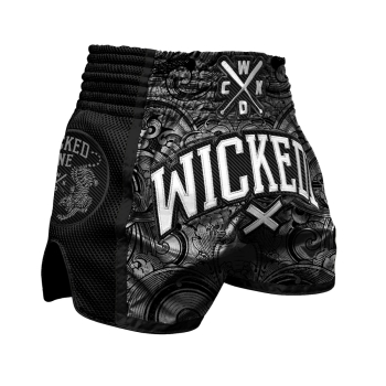 Short de Boxe Thaï Wicked One Rude Black
