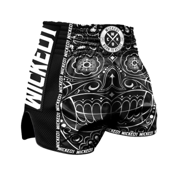 Short de Boxe Thaï Wicked One Mexican Skull Noir