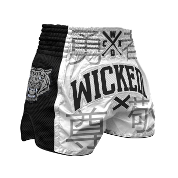 Short de Boxe Thaï Wicked One Japan Blanc