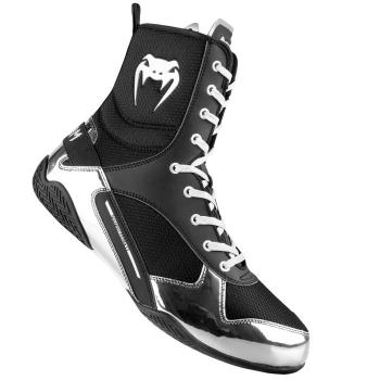 Chaussures de Boxe VENUM Elite Noir/Argent
