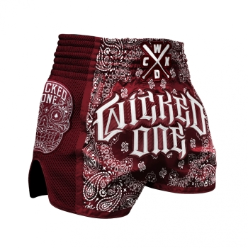 Short de Boxe Thaï Wicked One O.G  Bordeaux