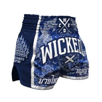 Short de Boxe Thaï Wicked One  DRAGON THAI  Navy