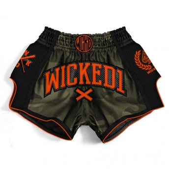 Short de Boxe Thaï Wicked One MT/KICK  Camo/Kaki