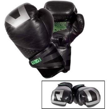 Gants de boxe RD BOXING V5 Cuir Noir/Argent