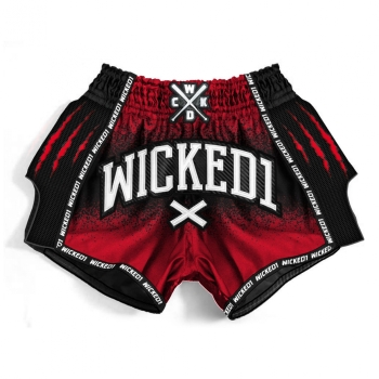 Short de Boxe Thaï Wicked One Savage  Rouge