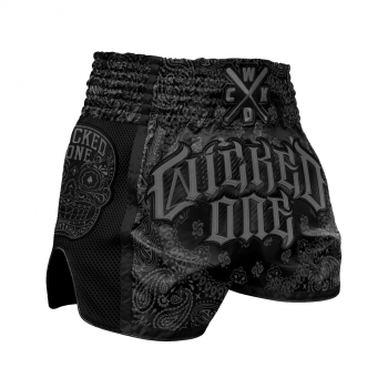 Short de Boxe Thaï Wicked One 0.G Noir/Gris