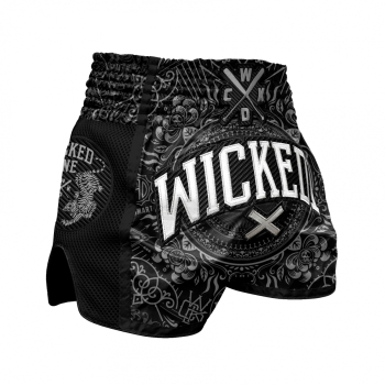 Short de Boxe Thaï Wicked One BRAIN Noir