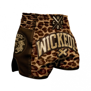 Short de Boxe Thaï Wicked One Leopard