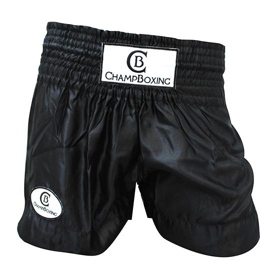 Short de Boxe Thaï Champboxing Noir