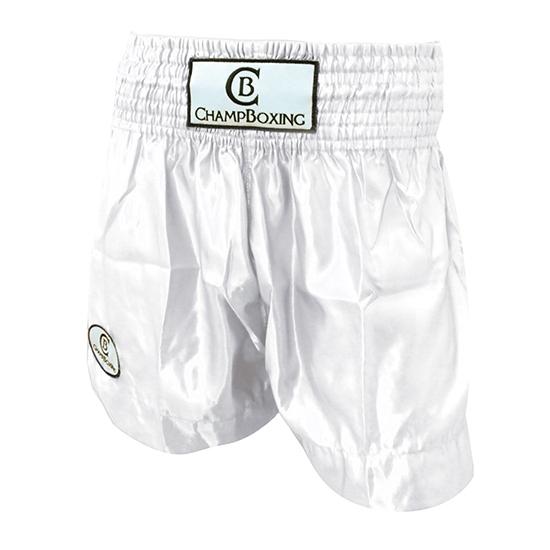 Short de Boxe Thaï Champboxing Blanc
