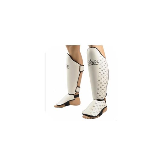 Protèges tibias & pieds FAIRTEX SP5 Blanc