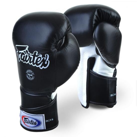 Gants de Boxe d'entrainement FAIRTEX FXV6 noir