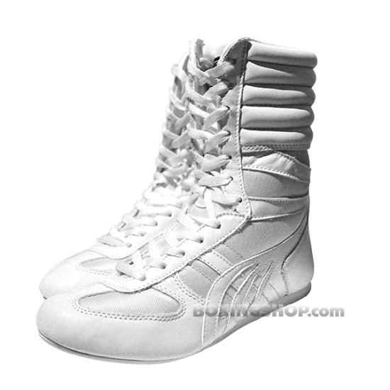 Chaussure CHAMPBOXING Montante Blanche  - Boxe Anglaise