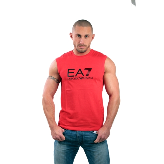 Tshirt manches courtes ARMANI EA7 Train Big logo - Rouge