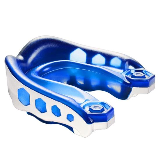 Protège dents SHOCK DOCTOR Gel max - Blanc Bleu