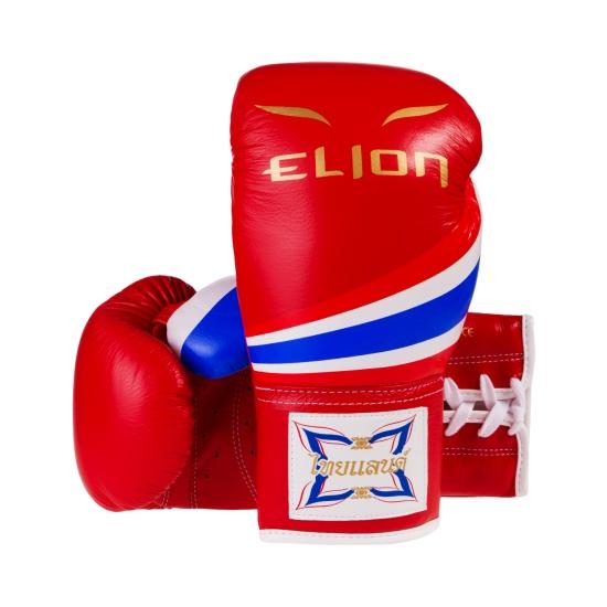 Gants de boxe à lacets ELION Born in Thailand - Red