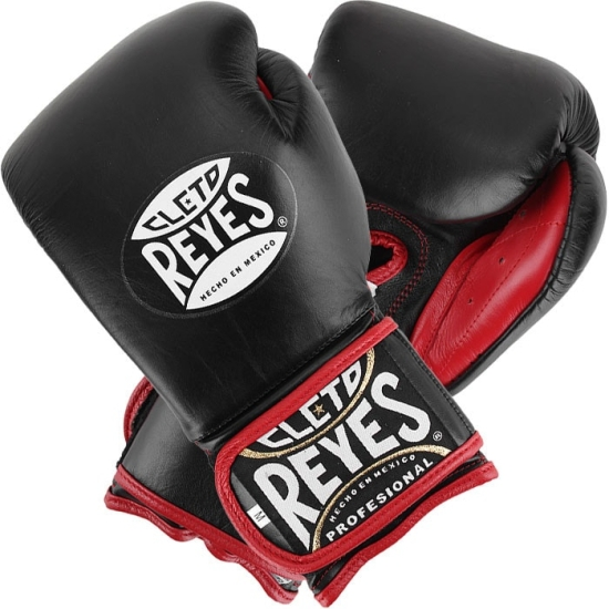 """Gants de Boxe d'entrainement REYES Pro Sparring """"Re-design"""" - Noir - Rouge - Blanc"""