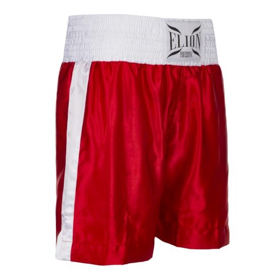 Short de Boxe Anglaise ELION Rouge/Blanc