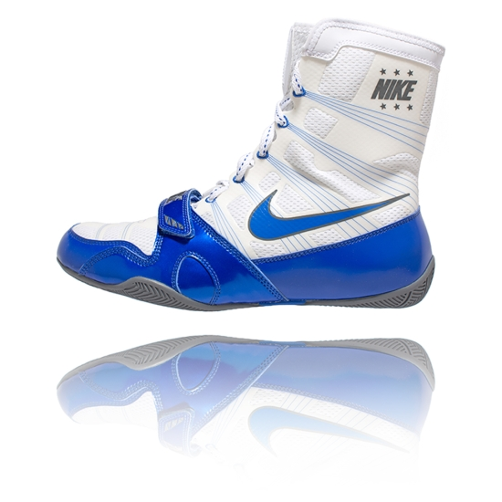 Chaussures NIKE HyperKO - Blanche & Bleue