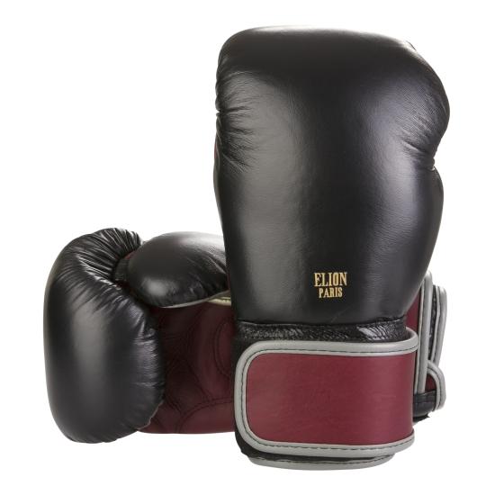 Gants de boxe ELION Collection Paris - Noir/Bordeaux/Gris