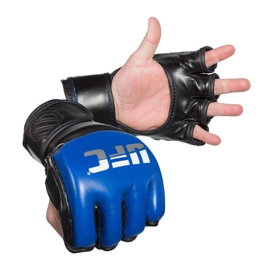 Gants Free Fight UFC Professional MMA Sparring Gloves Bleu