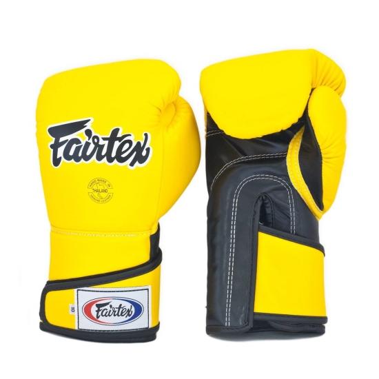 Gants de Boxe  d'entrainement FAIRTEX FXV6 Jaune