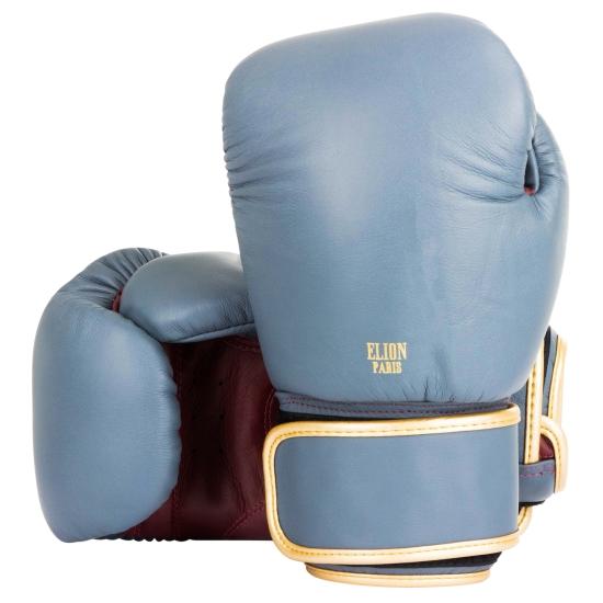 Gants de boxe ELION Collection Paris - Gris Mat/Bordeaux vintage