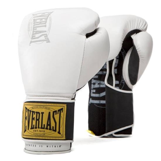 Gants de Boxe d'entrainement EVERLAST 1910 CLASSIC Blanc