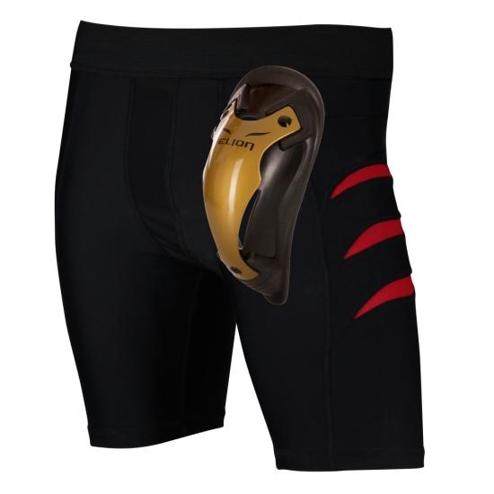 Pack Short de compression ELION Noir avec Coquille Gold Cup ELION