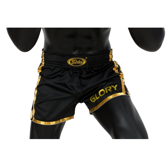 Short de Boxe Thaï FAIRTEX Glory Noir/Or