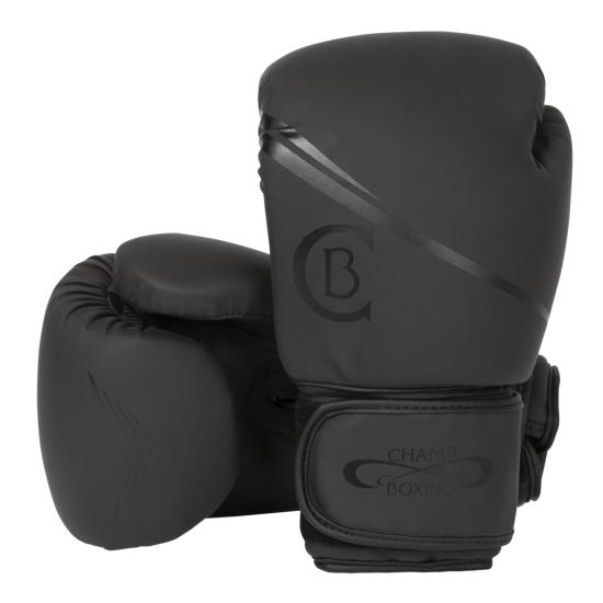Gants de Boxe d'entrainement CHAMPBOXING Noir/Noir
