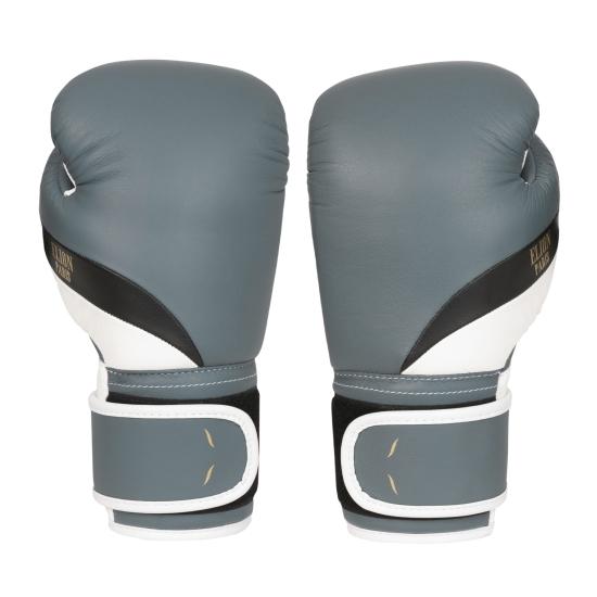 L'Elégant de boxe ELION Paris Velcro - Gris Mat/Noir/Blanc Mat