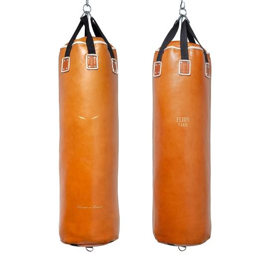 Sac de frappe ELION Cuir Collection Paris - 1m35 - 45kg - Marron