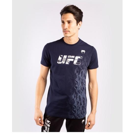 T-SHIRT MANCHES COURTES EN COTON HOMME UFC VENUM AUTHENTIC FIGHT WEEK - BLEU MARINE 00052