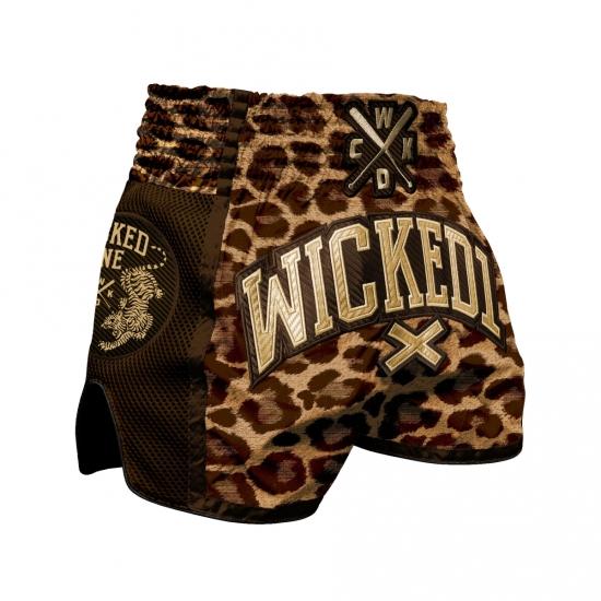 Short de Boxe Thaï Wicked One Leopard